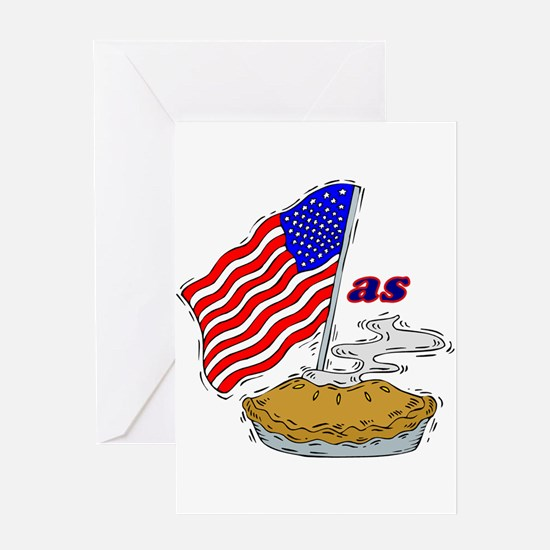 American as Apple Pie Greeting Card
