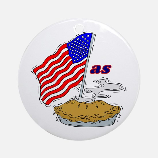 American as Apple Pie Ornament (Round)