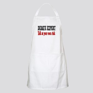 Debate Expert talk at your risk BBQ Apron