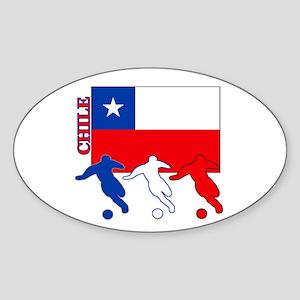 Chile Soccer Oval Sticker (10 pk)