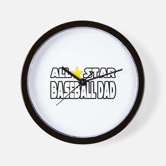 """All Star Baseball Dad"" Wall Clock"