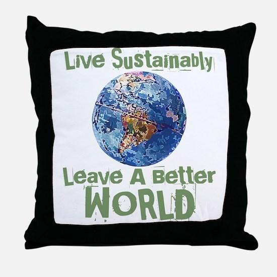 Better World Throw Pillow