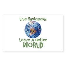 Better World Rectangle Sticker