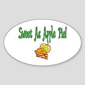 Sweet as apple pie Oval Sticker