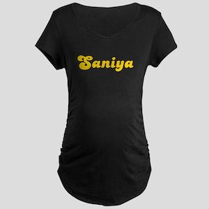 Retro Saniya (Gold) Maternity Dark T-Shirt
