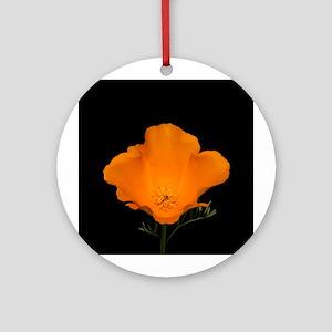 Golden Poppy Flower (macro) Keepsake (Round)