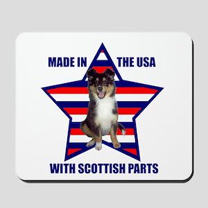 Patriotic Sheltie Mousepad
