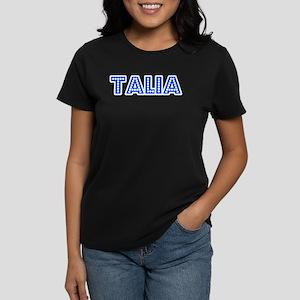 Retro Talia (Blue) Women's Dark T-Shirt