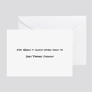 Geek Deep Thought Greeting Card