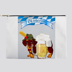 Oktoberfest Daschund with Banner and Be Makeup Bag