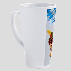 Oktoberfest Daschund with Banner a 17 oz Latte Mug
