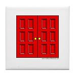 Red Doors Tile Coaster