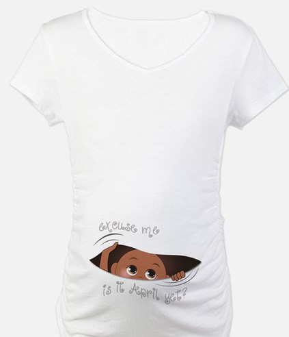 Funny Peeking Out Baby April Shirt