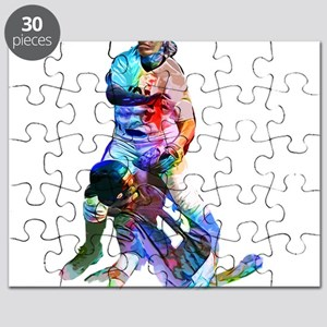Crayon Colored Baseball Sliding In to Home Puzzle