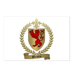 BRIERE Family Crest Postcards (Package of 8)