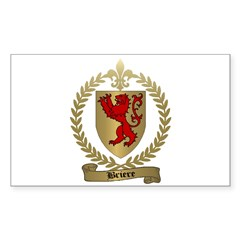 BRIERE Family Crest Rectangle Decal