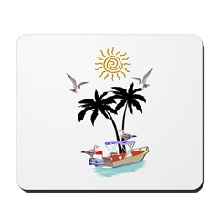 Boat To Paradise Mousepad