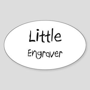 Little Engraver Oval Sticker