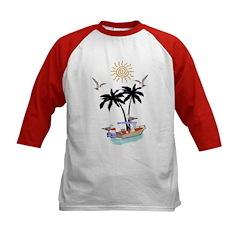 Boat To Paradise Kids Baseball Jersey