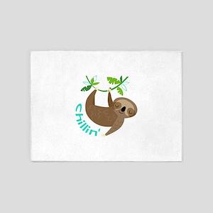 Sloth Chillin' 5'x7'Area Rug