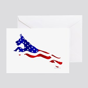 Great Dane Jumper Flag Greeting Cards (Pk of 20)