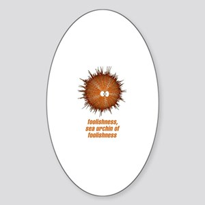 Sea Urchin Oval Sticker