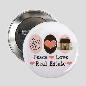 "Peace Love Real Estate Agent 2.25"" Button"