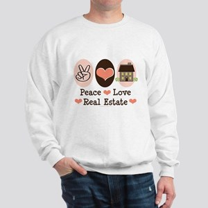 Peace Love Real Estate Agent Sweatshirt