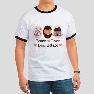 Peace Love Real Estate Agent Ringer T