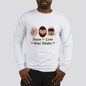 Peace Love Real Estate Agent Long Sleeve T-Shirt