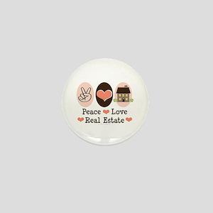 Peace Love Real Estate Agent Mini Button