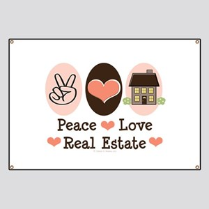 Peace Love Real Estate Agent Banner