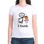 Basketball Stick Figure Jr. Ringer T-Shirt