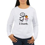 Basketball Stick Figur Women's Long Sleeve T-Shirt