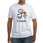 Basketball Stick Figure Fitted T-Shirt