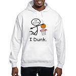 Basketball Stick Figure Hooded Sweatshirt