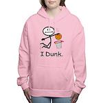 Basketball Stick Figure Women's Hooded Sweatshirt