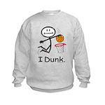 Basketball Stick Figure Kids Sweatshirt