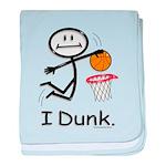 Basketball Stick Figure baby blanket
