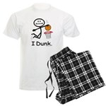Basketball Stick Figure Men's Light Pajamas