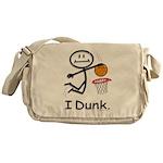 Basketball Stick Figure Messenger Bag