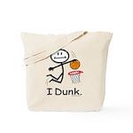 Basketball Stick Figure Tote Bag