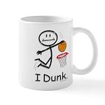 Basketball Stick Figure 11 oz Ceramic Mug