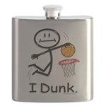 Basketball Stick Figure Flask