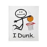 Basketball Stick Figure Throw Blanket