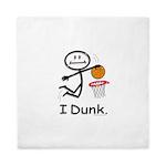 Basketball Stick Figure Queen Duvet