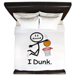 Basketball Stick Figure King Duvet