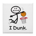 Basketball Stick Figure Tile Coaster