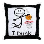 Basketball Stick Figure Throw Pillow