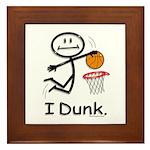 Basketball Stick Figure Framed Tile